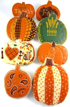 Sugar Cookie decorations. LOVE THEM ALL!