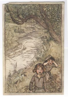 Arthur Rackham 'Wandering about and Boo-hooing' illustration, 1907 | eBay
