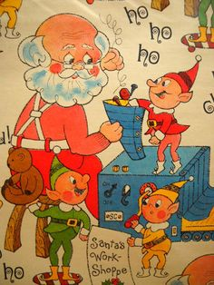 Vintage Christmas Wrapping Paper Holiday Gift by wallstantiques, $3.99