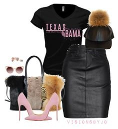 """""""Untitled #1511"""" by visionsbyjo ❤ liked on Polyvore featuring moda, INC International Concepts, rag & bone/JEAN, Moschino, Christian Louboutin, WithChic, GUESS, women's clothing, women i female"""