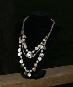 Pearl and Mussel shell necklace