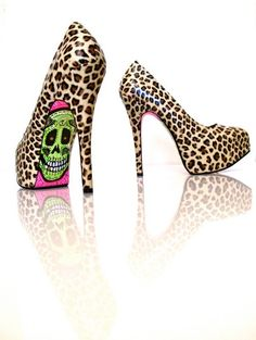 leopard and hand painted skulls, yes!