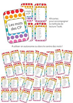 List of CP words Listes des mots CP Learn French Beginner, Indoor Play Centre, French Articles, Indoor Activities For Toddlers, Sound Words, Back To School Sales, Collage Making, Pencil And Paper, Tot School