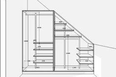 Corner Wardrobe, Attic Wardrobe, Attic Closet, Attic Bedroom Storage, Attic Rooms, Closet Bedroom, Under Stairs Storage Solutions, Stairway Storage, Wardrobe Planner