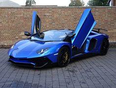 2016 (66) Lamborghini Aventador SV Roadster for sale   Blue Nethuns