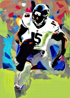 Brandon Marshal Cubism Abstract Painting - Virtual Painter 6.