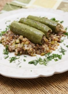 KOLOKITHAKIA GEMISTA (STUFFED ZUCCHINI WITH CHOPPED MEAT)