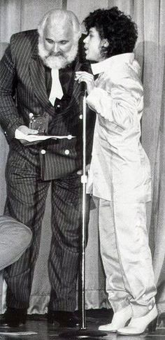Classic Prince | 1982-1983 '1999' Era - Minneapolis Music Awards with his bodyguard and best friend Big Chick Huntsberry.