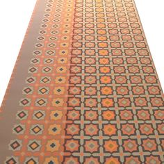 1970s ORANGE Medallion GeoMod MidCentury DanishModern VINTAGE ORIGINAL Wallpaper | eBay