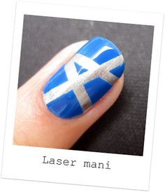 Nailside: Tutorial: laser design tape mani