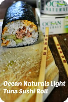 Spicy Tuna Sushi Rolls.  #OceanNaturals #cbias #shop
