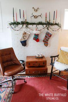 Christmas mantel decorating ideas #christmas #matel