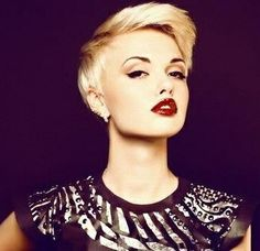 edgy Blonde Pixie Cut #ghdSecrets
