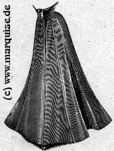 9-part skirt, 1908 - http://www.marquise.de/en/1900/schnitte/s1908_11.gif