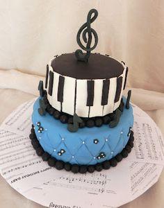 Music Theme Piano Cake...Custom Creations By Donna