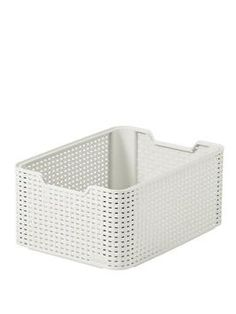 curver Medium Storage Box - Set of 3 | very.co.uk - Rattan effect 18 litre boxes. Can be stacked. 38 x 29 x 17 cm.
