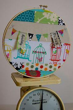 patchwork in a hoop