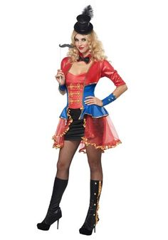 Plus Size Womens Ringmaster Costume-What I want. My dog has the lion costume