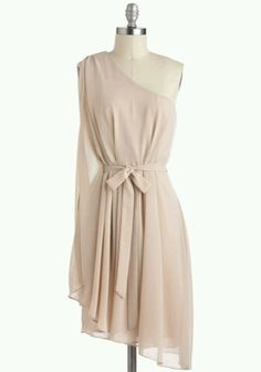 Champagne dress by mod cloth pretty for a bridesmaids dress