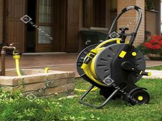 Innovative Design Of The Garden Hose Storage With Trolley Kit
