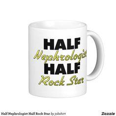 Half Nephrologist Half Rock Star Classic White Coffee Mug