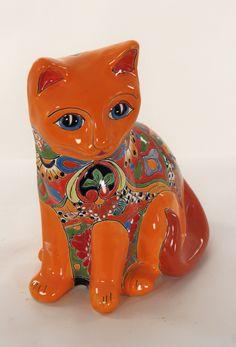Талавера Cat Orange Большой