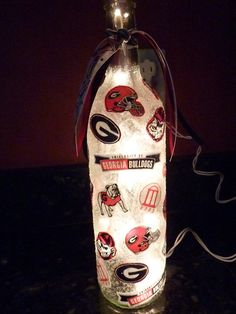 Handmade Lighted Wine Bottle w/ University of GEORIGA. $20.00, via Etsy.