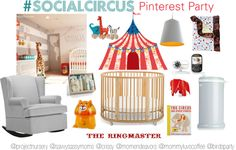 TONIGHT! IN TWENTY MINUTES! Follow along the fun (read this link for details) for a chance to win a Stokke Sleepi crib + tons of other great prizes.....  Circus Pinterest Party: Nursery Decor and More! - Savvy Sassy Moms  #SocialCircus
