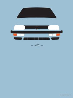 simple front end design' T-Shirt by ApexFibers Golf Mk3, Front End Design, Car Posters, Silhouette, Colouring Pages, Asd, Volkswagen Golf, Hot Cars, Classic T Shirts
