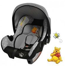 disney baby car seats   NEW DISNEY WINNIE THE POOH GROUP 0+ CAR SEAT FROM BIRTH CARSEAT BABY ...