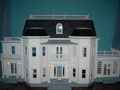 Photos of Dollhouse Interiors   fireplaces, extra ceiling tile, ceiling medallions/carvings, light ...