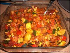 Légumes confits au paprika fumé, chorizo et poulet - Cest marqué servez-vous ;)