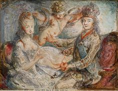 Louis XVI and Marie-Antoinette Crowned by Love by Gabriel Jacques de…