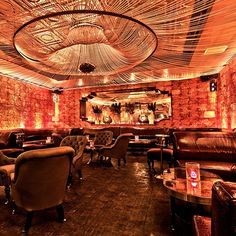 Beauty and Essex.Enter through a pawn shop to find the perfectly lit bar straight out of a F. Scott Fitzgerald novel.  Low lighting, gorgeous leather, and comfortable seating will be sure to keep you and your party happy for the whole evening.
