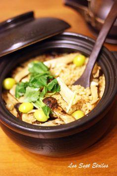 松茸ごはん How To Cook Rice, Rice Dishes, Japanese Food, Love Food, Risotto, Delish, Food And Drink, Vegetarian, Dinner