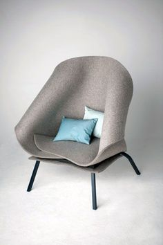 Charlotte Kingsnorth felt chair...this would be so cozy in a mountain cabin.