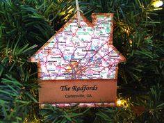 Personalized New Home Ornament, Custom New House Ornament, New House Christmas Ornament, New Home Christmas Ornament, Home Sweet Home by AtHomeWithWords on Etsy https://www.etsy.com/listing/482861754/personalized-new-home-ornament-custom