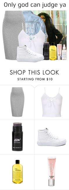 """""""Untitled #364"""" by clarinet4ever ❤ liked on Polyvore featuring Yeezy by Kanye West, Topshop, WithChic, Vans, philosophy, Victoria's Secret and Herbivore"""