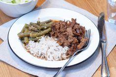 Indo pulled pork (uit de slowcooker) I Love Food, A Food, Slow Cooker Recipes, Crockpot Recipes, Multicooker, Pulled Pork, Asian Recipes, Rice, Favorite Recipes