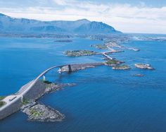 Atlantic Road in Norway.  There is NO way that I'd cross this! :-(
