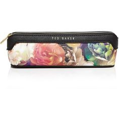 Ted Baker Noele Technicolor Pencil Case (2,270 INR) ❤ liked on Polyvore featuring home, home decor, office accessories, black, black pencil pouch, black pencil case, ted baker and colored pencil case
