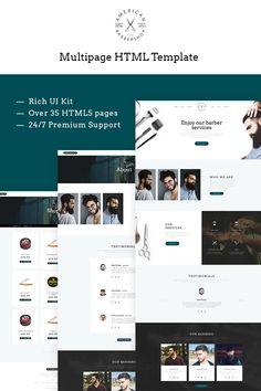 Website Template , Barber Shop Responsive Multipage