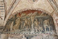 Santa Maria Novella - Church and Cloisters - Florence. Зеленый монастырь. Паоло Уччелло - Адам и Ева.