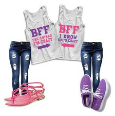 """Matching BFF outfit"" by jalengomez on Polyvore"