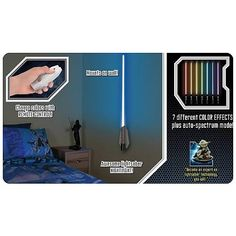 Star Wars Lightsaber Room Light Wall Sconce - Uncle Milton - Star Wars - Lamps at Entertainment Earth