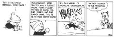 Calvin and Hobbes, Snow! -This is the finest snowball ever made! Painstakingly hand-crafted into a perfect sphere from a secret mixture of slush, ice, dirt, debris and fine powder snow. This IS the ultimate winter weapon. Yes, this marvel of crystalline engineering wi... WHAP!!