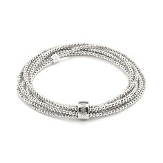 A beautiful wrap style bracelet with one long continuous strand of 925 Sterling Silver beads for a statement look. Free delivery on orders over Silver Beads, Silver Jewelry, Engraved Rings, Jewelry Box, Jewellery, Luxury Gifts, Fashion Bracelets, Annie, Sterling Silver