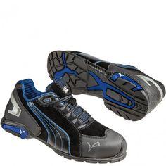 642755 Puma Men s Rio Low Safety Shoes - Black Blue www.bootbay.com 68a481dd7