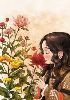 Image uploaded by Naty. Find images and videos about girl, art and flowers on We Heart It - the app to get lost in what you love. Bisous Gif, Forest Girl, Whimsical Art, Anime Art Girl, Cartoon Art, Cartoon Faces, Cartoon Drawings, Cute Drawings, Cute Art