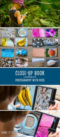 Photography with Kids: How to Make a Close-Up Book.  If your children or students are interested in digital media photography skills are an important component and this book allows them to work on zooming in and out to form a challenge for their friends!